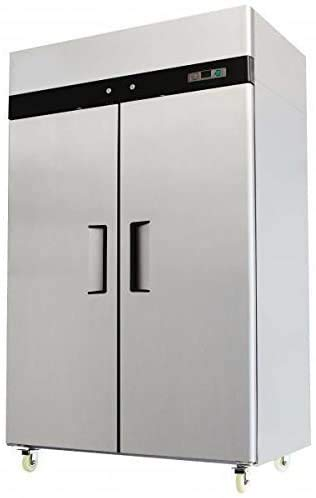 52' Double 2 Door Side By Side Stainless Steel Reach in Commercial Refrigerator, 49 Cubic Feet, for...