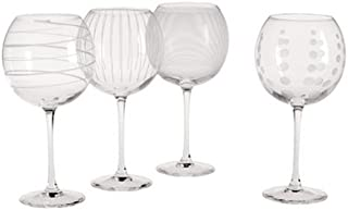 Mikasa Cheers Balloon Goblet Wine Glass, 24.5-Ounce, Set of 4