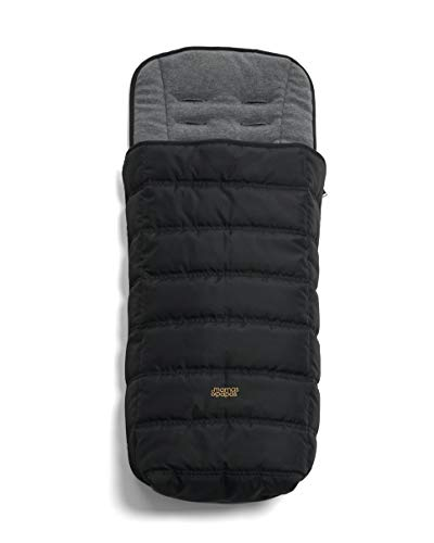 Mamas & Papas All Seasons, Water and Dirt-Resistant Pram/Pushchair/Buggy Footmuff with Two Way Zip -Black