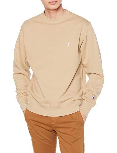 [チャンピオン] スウェット シャツ 裏毛 ワンポイント 刺繍 ロゴ 定番 ベーシック C3-Q001 メンズ ベージュ L