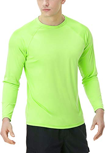 TSLA Camiseta de natación para hombre, UPF 50+, camiseta de manga larga...