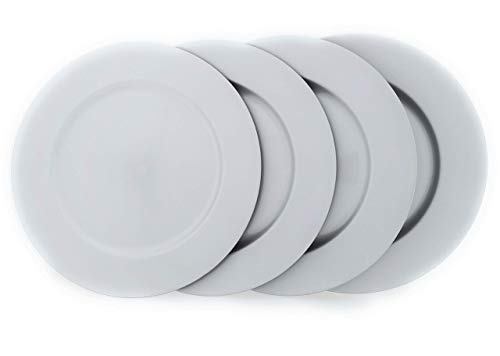 MC Trend 4er Set Gebäckteller Platzteller Dekoteller Serviceteller Weihnachten Silber 33cm Durchmesser (Silber)