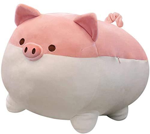 Auspicious beginning Stuffed Animal Plush Pig Toy Anime Kawaii Plush Soft Pillow, Plush Toy Gifts (Pink, 15.7')