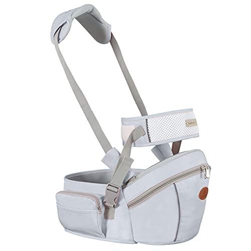 Asiento de la cadera del portador de bebé, 2-24 meses Baby Sling Taburete transpirable Taburete Walkers Hold Cinturón, Cinturón Niños Infantil Hip Asiento, Gris WDH666 (Color : Gray)