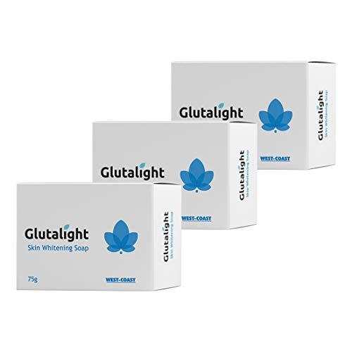Glutalight Skin Lightening Soap For Reduce Freckles, Age Marks, Acne Spots - 75gm (Pack of 3)