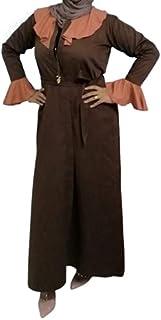 Nukhbaa Women's Casual Abaya Long Sleeve Open Abaya Kimono Abaya