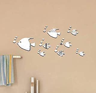 DIY 3D Acrylic Mirror Wall Sticker Bubble Pattern Fish Home Decor Wall Stickers Decoration For Bed Room Bathroom-xsq