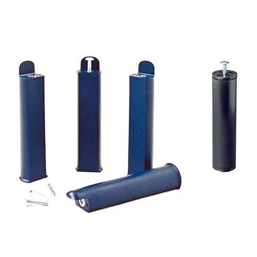 AltoBuy PLAST - Jeu de 4 Pieds 22 cm Bleus + Pied Central pour Cadre à Lattes