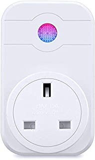 WiFi Smart Plug Outlet Switch Timer Power Socket UK Plug Compatible with Wireless Smartphone,Amazon Alexa Google Assistant IFTTT