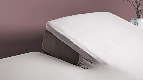 Elegance Splittopper Hoeslaken Flanel - licht grijs 180x210/220cm