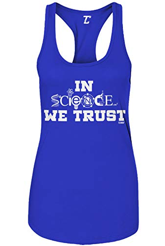 in Science We Trust - Atheist Women's Tank Top (Royal Blue, Small)