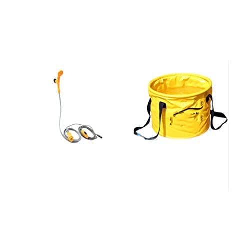 bjyx Cubo de Ducha de PVC Plegable de la Ducha de Agua Ajustable de la Ducha al Aire Libre portátil Adecuado para la Pesca y el hogar del Campamento de Viaje (Color : C)