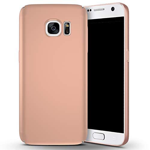 N+A Amosry Funda Samsung Galaxy S7,Absorción de Golpes Anti-Rasguños PC Esmerilado Funda Protectora para,Mate para Samsung Galaxy S7 (Oro Rosa)