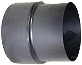 Rookpijp, kachelpijp 2 mm reductie 180-150 gietijzeren grijs