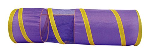 Boss Pet 32089 Collapsible Lightweight Cat Tunnel with Peak-A-Boo Mesh Window
