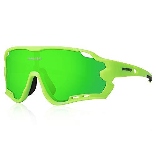Queshark Gafas de Ciclismo para Hombre Mujer Bicicleta de Carretera 1 Lente...