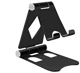 AMH Mobile phone adjustable stand for desk, Foldable adjustable mobile phone stand compatible with all smart phones and ta...