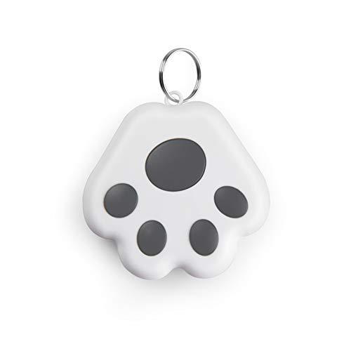 CRGANGZY Bluetooth GPS Pet Tracer Smart Anti Lost Llavero Localizador de Perros y Gatos Buscador de Etiquetas de Alarma para niños Accesorios de rastreador de Collar Clave (Gris)