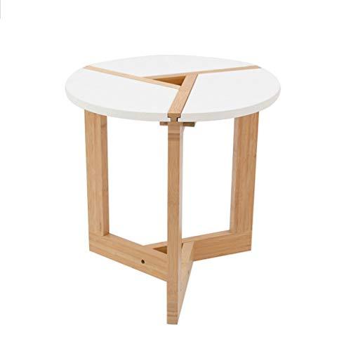 MSF Opklapbare tafel Houten Gemonteerd Koffietafel, Ronde Tafel Eettafel Bureau Multifunctionele Opbergtafel Outdoor Tuintafel (kleur : 50 * 50 * 51cm)