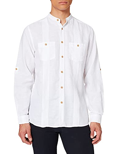 Springfield Lino Cuban MAO Camicia, Bianco, M Uomo
