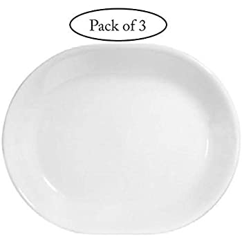 Corelle Livingware 12-1/4-inch Serving Platter, Winter Frost White-3-pack