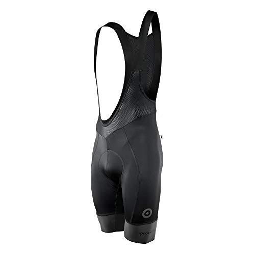 procycling.design Challenger Pantaloncino da Ciclismo con Bretelle - Uomo - Riflettente a 360° (L)