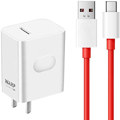 HELLOLAND OnePlus Warp Charger, 30W Power Adapter [5V 6A] + OnePlus USB Type-C Fast Charging Cable 1M / 3.3FT Data Cable for OnePlus 8 Pro 7T 7 6T 6 Nord (Original)