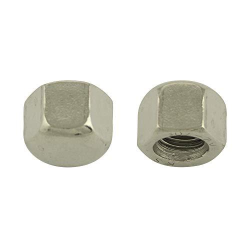 BiBa-Schrauben Hutmuttern niedrige Form M16 (10 Stück)  DIN 917   Sechskantmutter   Sechskant   niedr.   Sechskant-Hutmutter   Edelstahl A2 V2A