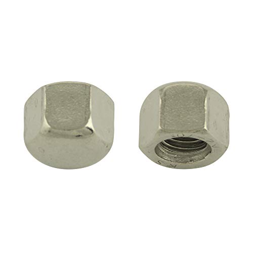 BiBa-Schrauben Hutmuttern niedrige Form M14 (5 Stück)| DIN 917 | Sechskantmutter | Sechskant | niedr. | Sechskant-Hutmutter | Edelstahl A2 V2A