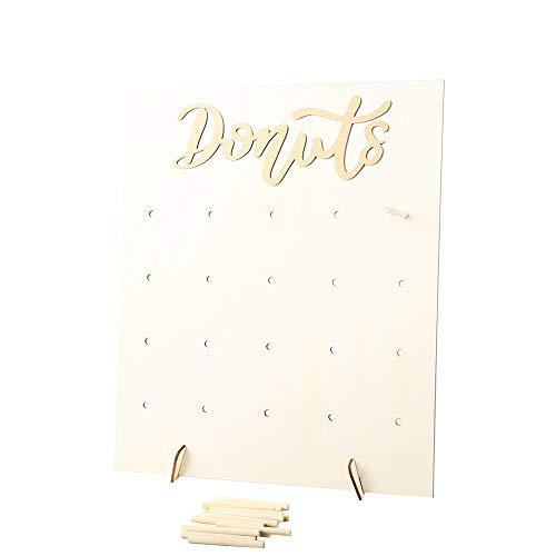 Decdeal Donut Ständer Holz Donut Wand Rack Halter Geeignet für Die Hochzeit Geburtstagsfeier Dekoration