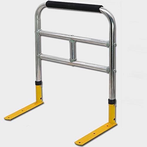 YYFANG Bettgriff, Höhenverstellbar ABS-Schutzhülle Rostfreies Stahlrohr Einfache Installation, Geeignet Für Ältere Menschen, Schwangere Frauen Und Kinder (Color : Silver, Size : 42.5x50cm-A)