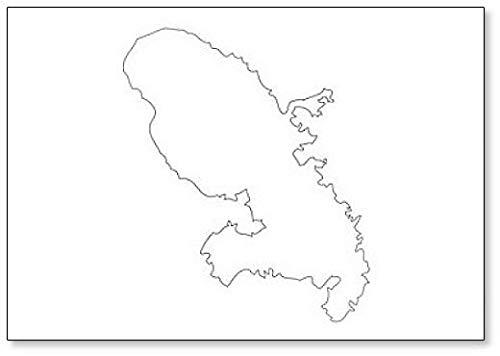 Martinique - Kaart Regio Frankrijk Koelkast Magneet