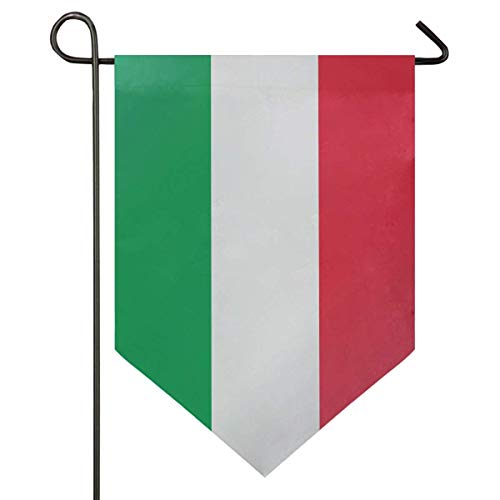 jenny-shop Italienische Flagge Grün Weiß Rot Streifen Garten Flagge Doppelseitig 12,5 x 18 Zoll