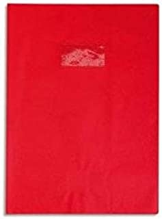 Calligraphe PVC Exercise Book Protector, 170 x 220 mm, Label holder, Leather Effect - Intensive Red
