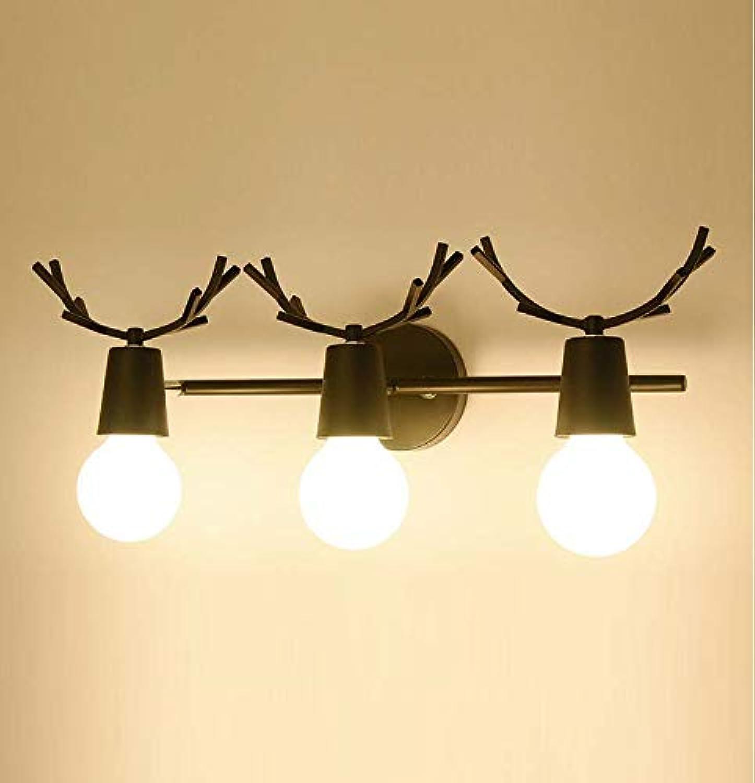 Wandbeleuchtung Innen Vintage,LED-Wandleuchte Nachttischlampe moderner minimalistischer Hirschkopf Macarons Nordic Wandleuchte,wandlampe retro e27-Blau