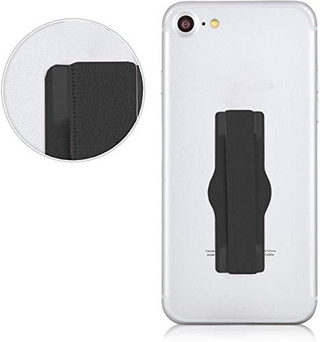MyGadget Fingerhalterung Smartphone Griff - Aluminium Handy Grip Finger Halter u.a. für Apple iPhone XS Max, X XR 8, Samsung Galaxy S10 S9 S8- Schwarz