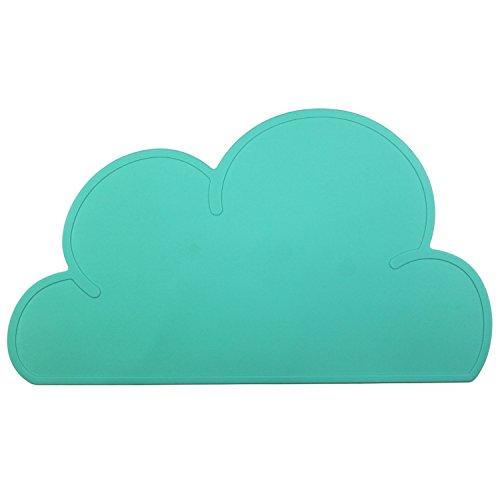 Cailorlife Tovaglietta di Silicone, Tappetino in Silicone per Neonati e Bambini, Forma di Nuvola (verde)