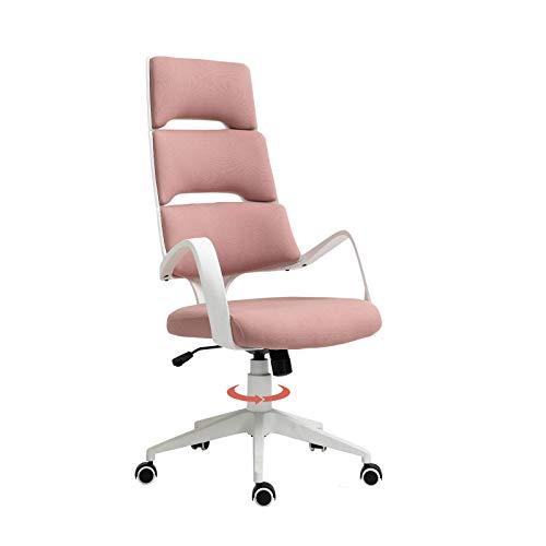 QLIGAH Bürostuhl High Back Spandex-Gewebe Swivel-Verstellbarer Höhe Ergonomischer Moderner Schreibtisch Executive Chair Computerstuhl