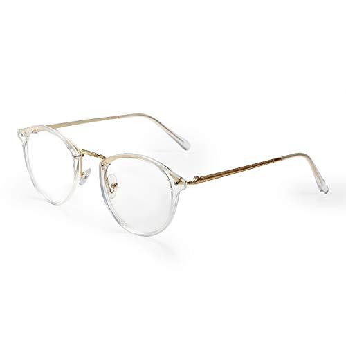 Aroncent Damen Sichtbrille Brillenrahmen transparente Gläser bequem ultraleicht Farbe wählbar Bianco