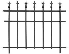 BestNest Bulk Buy of 10 Panacea 87103 Classic Finial Fence Sections, Black