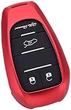 Royalfox(TM) Luxury Aircraft Aluminum Smart 3 Buttons car Key Fob case Cover for Alfa Romeo Giulia Stelvio 4c Mito Giulietta 2017+ (red)