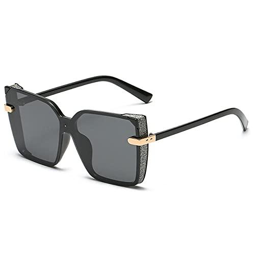FGHJKOO Gafas de Sol Polarizadas MujerHombre/Caja grande conducción-caja negra polarizador negro/Protección UV400-Aire libre Deportes Golf Ciclismo Pesca Senderismo gafas de sol