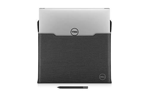 Dell Premier Sleeve 17 Laptop-Hülle mit Magnetverschluss, Leder, Schwarz, mit Grauer Außenseite, für Precision Mobile Workstation 5750, XPS 17 9700