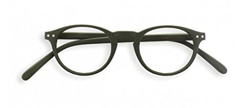 LetmeSee #A KAKI GREEN Soft +2,50 15x4,5x2 | leesbril (leeftijdsvriendelijkheid) - vorm #A: rond, klein, filigraan - universeel unisex model