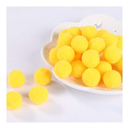 JIAHUI Pompones suaves pompones de felpa esponjosa para manualidades con pompón, bola de furball para decoración del hogar (color: amarillo oscuro, tamaño: 8 mm, 10 g, 240 unidades)