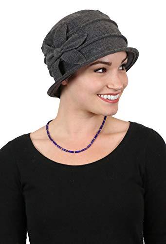 Fleece Flower Cloche Hat for Women Cancer Headwear Chemo Ladies Head Coverings