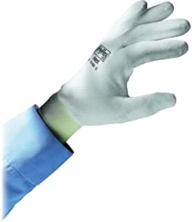 Ansell 103328 HyFlex Lite 11-600 White Polyurethane Coated Knit Gloves, 0.29
