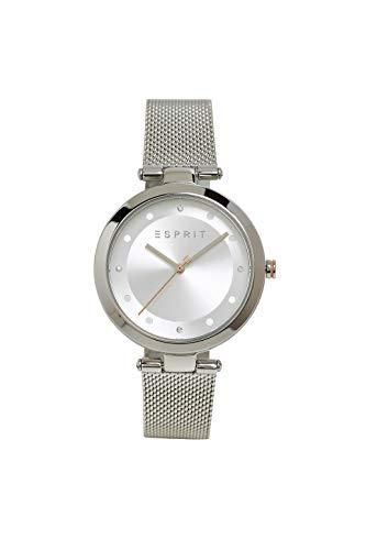 Esprit Edelstahl-Uhr mit Mesh-Armband und Zirkonia