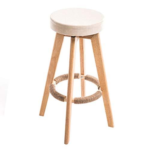 CCLC Creatieve, moderne, minimalistische barkruk, barkruk, Europese massieve stoel, voor reception, hout, roterende zitten, hoogte 73 cm