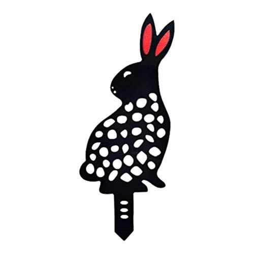 Rlevolexy Courtyard decoration - Easter Garden Stakes Bunny-Shaped Acrylic Yard Art Decoration Animal Silhouette Stake Bunny Silhouette for Lawn Sidewalk Garden Decoration